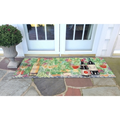 """Transocean Cirrus On The Vine Indoor/Outdoor Rug Pastel 29""""x49"""", Green, large"""