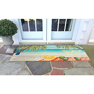 "Transocean Cirrus Celebration Indoor/Outdoor Rug Multi 29""x49"", Multi, rollover"