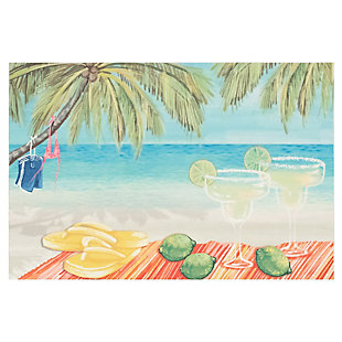 "Transocean Cirrus Celebration Indoor/Outdoor Rug Multi 29""x49"", Multi, large"