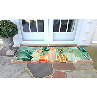 "Transocean Cirrus Let'S Celebrate Indoor/Outdoor Rug Tropical 29""x49"", Green, rollover"