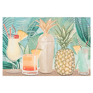 "Transocean Cirrus Let'S Celebrate Indoor/Outdoor Rug Tropical 29""x49"", Green, large"