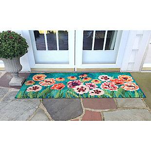 "Transocean Cirrus Flower Party Indoor/Outdoor Rug Multi 29""x49"", Multi, rollover"