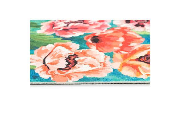 "Transocean Cirrus Flower Party Indoor/Outdoor Rug Multi 29""x49"", Multi, large"
