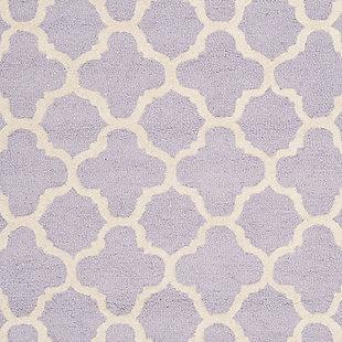 Cambridge 3' x 5' Wool Pile Rug, Lavender/Ivory, large