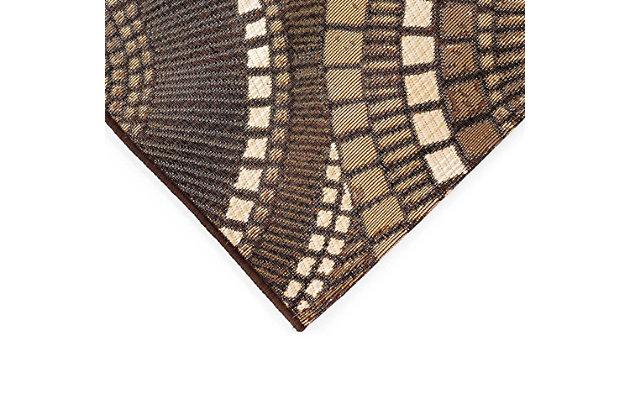 """Transocean Gorham Disco Indoor/Outdoor Rug Brown 23""""x7'6"""", Brown, large"""
