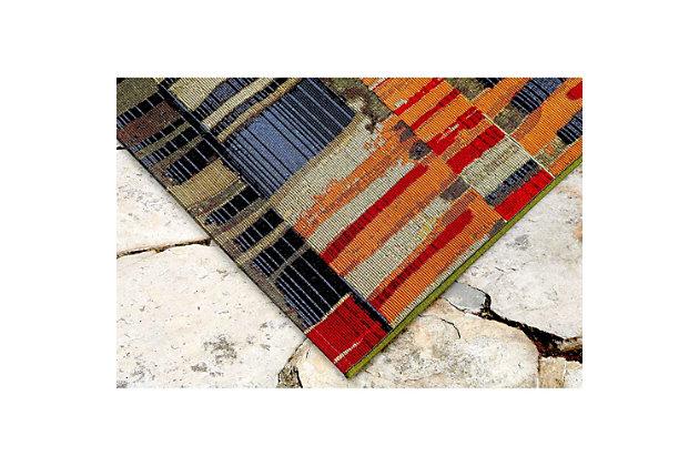 "Transocean Gorham Abstract Indoor/Outdoor Rug Multi 4'10""x7'6"", Multi, large"