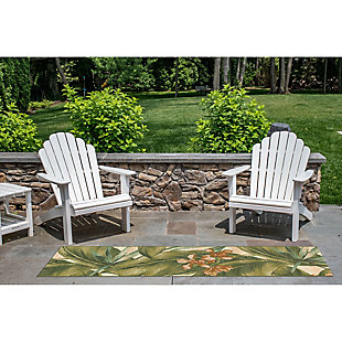"Transocean Gorham Fronds Indoor/Outdoor Rug Cream 4'10""x7'6"", Ivory, rollover"