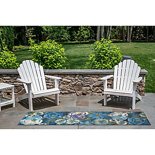 "Transocean Gorham Summer GaRounden Indoor/Outdoor Rug Cool 4'10""x7'6"", Blue, rollover"