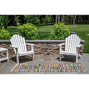 "Transocean Gorham Embellished Stripe Indoor/Outdoor Rug Multi 4'10""x7'6"", Multi, rollover"
