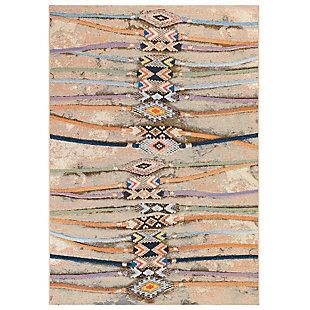 "Transocean Gorham Embellished Stripe Indoor/Outdoor Rug Multi 4'10""x7'6"", Multi, large"