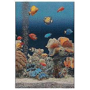 "Transocean Gorham Oceanside Indoor/Outdoor Rug Ocean 4'10""x7'6"", Blue, large"