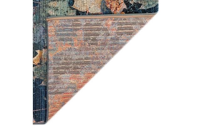 """Transocean Gorham Leaves Galore Indoor/Outdoor Rug Multi 4'10""""x7'6"""", Multi, large"""