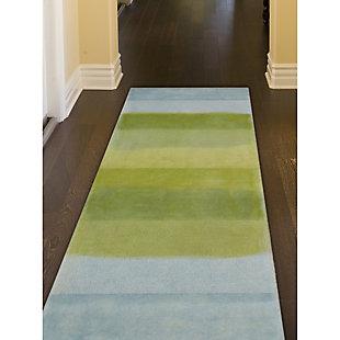 "Transocean Milano Collage Stripe Indoor Rug Sea Breeze 5'x7'6"", Blue, rollover"