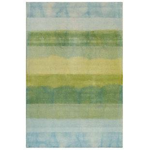 "Transocean Milano Collage Stripe Indoor Rug Sea Breeze 5'x7'6"", Blue, large"