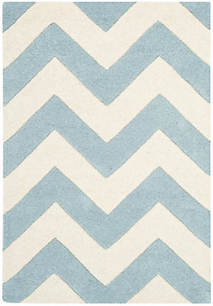 Safavieh 2' x 3' Wool Pile Rug, Blue/Ivory, large