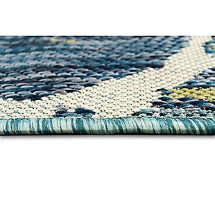 """Transocean Bellagio Sea Giant Indoor/Outdoor Rug Aqua 4'10""""x7'6"""", Blue, large"""