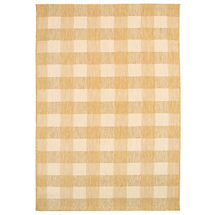"""Transocean Bellagio Boxes Indoor/Outdoor Rug Taupe 4'10""""x7'6"""", Tan, large"""