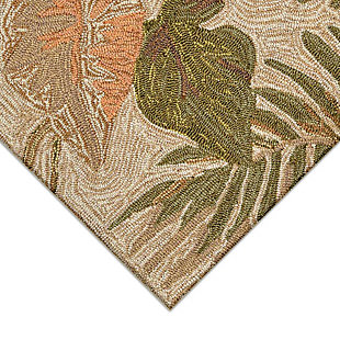 """Transocean Highlands Jungle Fronds Indoor/Outdoor Rug Neutral 5'x7'6"""", Natural, large"""