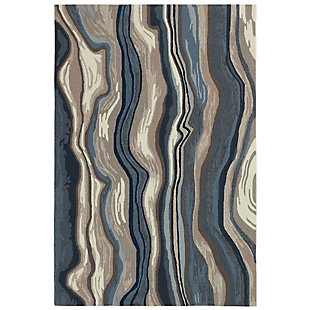 """Transocean Highlands River Indoor/Outdoor Rug Blue/Gray 5'x7'6"""", Blue, large"""