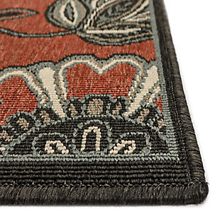 """Transocean Gilee Blossom Indoor/Outdoor Rug Red 4'10""""x7'6"""", Red, large"""