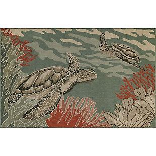 "Transocean Gilee Ocean King Indoor/Outdoor Rug Ocean 4'10""x7'6"", Blue, large"