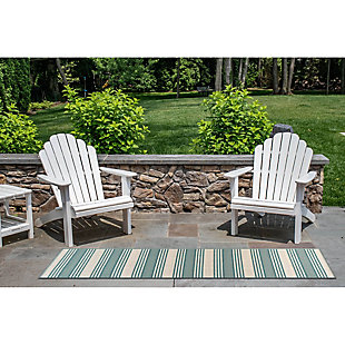 """Transocean Gilee Ribbons Indoor/Outdoor Rug Cool 4'10""""x7'6"""", Green, rollover"""