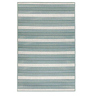 """Transocean Gilee Ribbons Indoor/Outdoor Rug Cool 4'10""""x7'6"""", Green, large"""