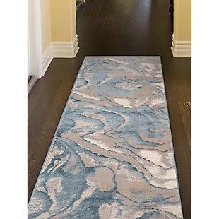 "Transocean Roco Marble Swirl Indoor Rug Blue 5'3""x7'6"", Blue, rollover"