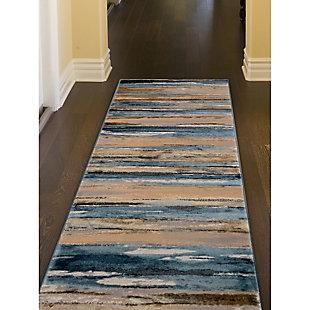 "Transocean Roco Painterly Stripe Indoor Rug Multi 5'3""x7'6"", Multi, rollover"
