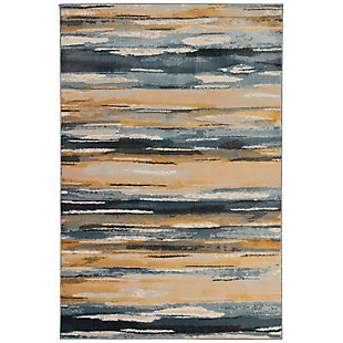 "Transocean Roco Painterly Stripe Indoor Rug Multi 5'3""x7'6"", Multi, large"