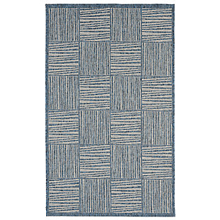 "Caston Outline 4'10"" x 7'6"" Indoor/Outdoor Rug, Blue, large"