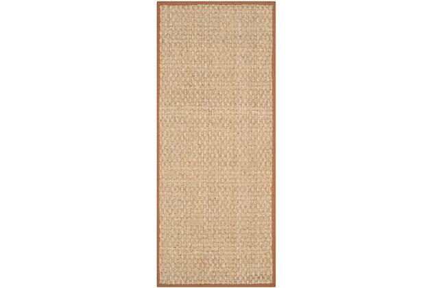 Safavieh Natural Fiber 2'-6 x 10' Runner, Natural/Brown, large