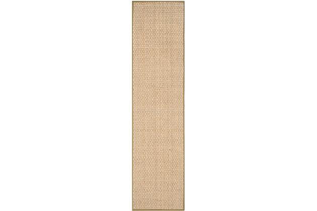 Safavieh Natural Fiber 2'-6 x 10' Runner, Natural/Olive, large