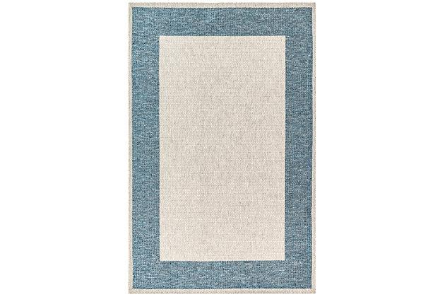 "Caston Wide Brim 4'10"" x 7'6"" Indoor/Outdoor Rug, Blue, large"