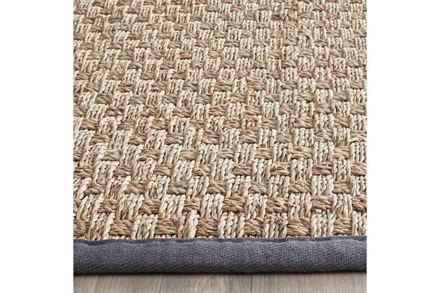 Safavieh Natural Fiber 6' x 6' Square Area Rug, Natural/Dark Gray, large