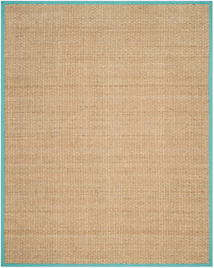 Safavieh Natural Fiber 5' x 8' Area Rug, Natural/Teal, large