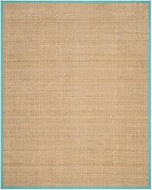 Safavieh Natural Fiber 5' x 8' Area Rug, Natural/Teal, large