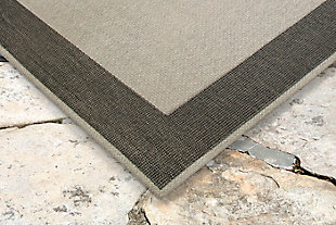 "Caston Wide Brim 3'4"" x 4'10"" Indoor/Outdoor Rug, Gray, rollover"