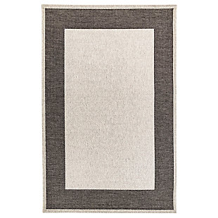 "Caston Wide Brim 3'4"" x 4'10"" Indoor/Outdoor Rug, Gray, large"