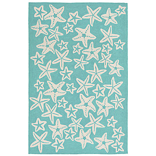 "Fortina Basket Star 7'6"" x 9'6"" Indoor/Outdoor Rug, Blue, large"