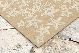 "Fortina Basket Star 3'6"" x 5'6"" Indoor/Outdoor Rug, Natural, rollover"