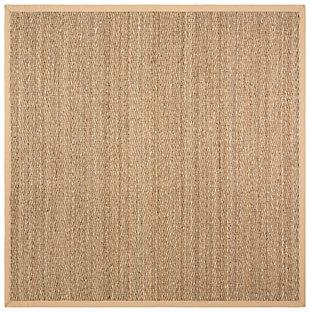 Safavieh Natural Fiber 4' x 4' Square Area Rug, Natural/Beige, large