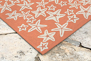 "Fortina Basket Star 3'6"" x 5'6"" Indoor/Outdoor Rug, Orange, rollover"