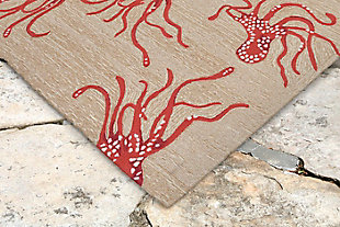 "Fortina Leggy 3'6"" x 5'6"" Indoor/Outdoor Rug, Orange, rollover"