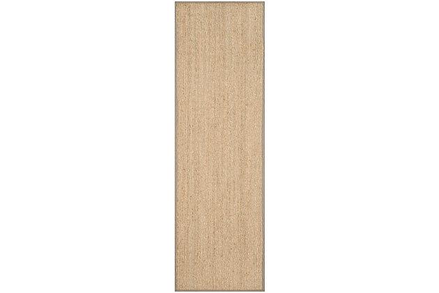 Safavieh Natural Fiber 2'-6 x 10' Runner, Natural/Gray, large