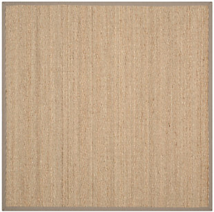 Safavieh Natural Fiber 6' x 6' Square Area Rug, Natural/Gray, large