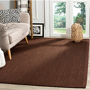 Safavieh Natural Fiber 5' x 8' Area Rug, Chocolate/Dark Brown, rollover