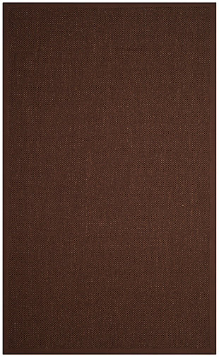 Safavieh Natural Fiber 5' x 8' Area Rug, Chocolate/Dark Brown, large