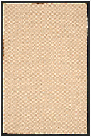 Safavieh Natural Fiber 4' x 6' Area Rug, Maize/Black, rollover