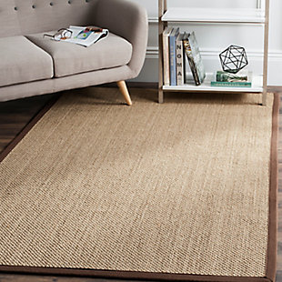 Safavieh Natural Fiber 5' x 8' Area Rug, Maize/Brown, rollover